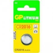 Литиева - бутонна батерия, CR 2016, напрежение 3V, 1 брой в блистер, GP-BL-CR-2016-1PK
