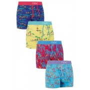 Mens Next Hawaii Scene A-Fronts Four Pack - Multi