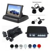 Senzori parcare cu camera video si display LCD de 4.3 inch pliabil S612-P