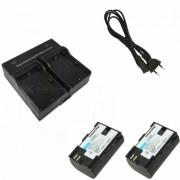 Ismartdigi LP-E6 1800mAh Bateria Li-ion para Camara Digital + Cargador Dual