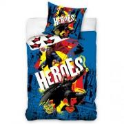 Lenjerie din bumbac pentru copii Batman vs. Superman - Heroes, 140 x 200 cm, 70 x 90 cm