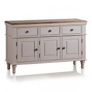 Oak Furnitureland Rustic Solid Oak & Painted Sideboards - Large Sideboard - Shay Range - Oak Furnitureland