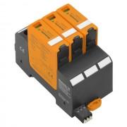 DC túlfeszültség levezető szolár napelemes (PV) rendszerekhez ( cserélhető betétes ) 3 pólus, C (T2) fokozatú, távjelzővel, VPU PV II 3 R 1000 solar (WEIDMÜLLER 2530180000)