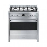 SMEG Cucina Con Piano A Gas E Forno Catalitico Multifunzione Opera Classe A+ Inox A1-9