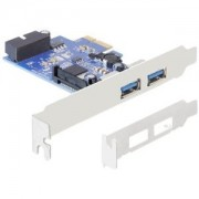 DeLock PCI Express Card > 2 x external USB 3.0 + 1 x internal 19 pin USB 3.0 89315