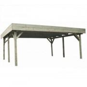 Jardipolys Carport en bois Evolution 2 - 6.05 x 5.10 m - 30.86 m²