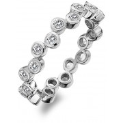 Hot Diamonds Inel de argint de lux cu Willow DR208 topaz 55 mm