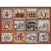 Bits And Pieces Village Welcome Quilt Puzzle Americana Quilt 1500 Piece Jigsaw Puzzle