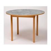Tapiflexbord rund 120cm h. 64cm lj.grå