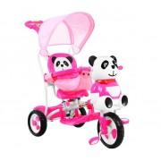 Dječji tricikl Panda - rozi