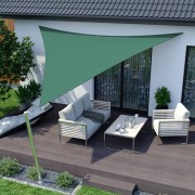 Jarolift Voile d'ombrage triangulaire, imperméable, vert, 360x360x360 cm