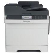 Multifunctional Lexmark CX417DE, laser color, Fax, A4, 30 ppm, Duplex, RADF, Retea (Alb/Negru)