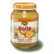 Holle bio bébiétel, őszibarack-alma 190 g