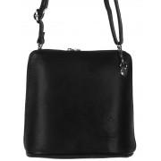 Kis méretű fekete bőr női táska