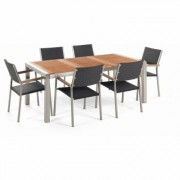 Ensemble de jardin table 180 cm 6 chaises en rotin GROSSETO