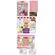Melissa & Doug My First Paint with Water, Jumbo Multi-Theme Coloring Pad, and Play House Reusable Sticker pad - Ages 3+