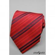 Červená proužkovaná kravata Avantgard 561-080801-1