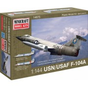 Minicraft 14675 - 1 144 F-104A USAF with 2 marking options