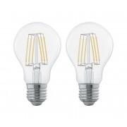 SET 2x Bec cu LED FILAMENT CLEAR E27/6W/230V - Eglo 11509