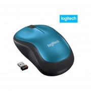 Mouse Logitech M185 Inalambrico Color Azul Nano Receptor