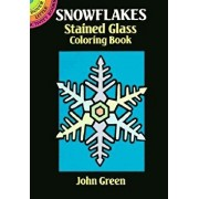 Snowflakes Stained Glass Coloring Book, Paperback/John Green