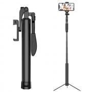 A21 Bluetooth Self-timer Pole Telescopic Tripod Handheld Anti-shake Stabilizer Supplementary Light Live Artifact (160cm Upgraded Version) - Black