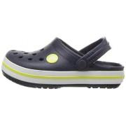 Crocs Kids' Crocband K Clog,Navy/Citrus,4 M US Toddler
