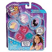 Kitty in My Pocket 3 Charm Kitties Barrette and Ring Set - Pink