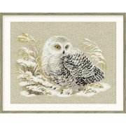 """White Owl Counted Cross Stitch Kit-17.75""""X13.75"""" 14 Count (Pack of 1)"""