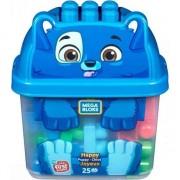 Set constructie Mega Bloks Animal Buckets Puppy 25 piese