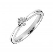 Anillo de compromiso oro blanco de 14Kt y diamante de .15ct