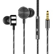 CAFELE Professional In-ear 3.5mm Wired Control Earphone Noise Cancelling Metal Heavy Bass Music Sports Earbuds for Phone