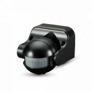 LED Infravörös mozgásérzékelő , fali , 180° , fekete