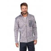 Strickfleece Jacke mit Reißverschluß, Farbe marine/grau melange, Gr. 3XL