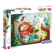 Dragon The Dragon and the Knight Pussel 180pcs