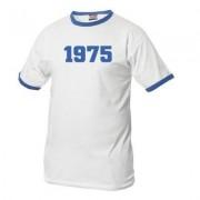 geschenkidee.ch Jahrgangs-Shirt für Erwachsene Weiss/Blau, Grösse XL