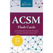 ACSM Certification Review Book of Flash Cards: ACSM Test Prep Review with 300+ Flashcards for the American College of Sports Medicine Certified Person, Paperback/Ascencia Personal Training Exam Team