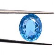 5.9 Ratti Best quality Blue Topaz stone Lab Certified