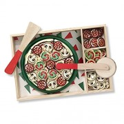 Wishkey Wooden Pizza Party Velcro Cutting Kitchen Play Set