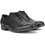 Clarks Conwell Wing Brogues For Men(Black)