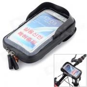 Bicicleta Montada en el Manillar de la Pantalla Tactil del Telefono funda Bolsa w/ Glare Shield - Negro + Gris
