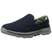 Skechers Men's Go Walk 3 Navy and Grey Mesh Walking Shoes - 9 UK/India (43 EU) (10 US)