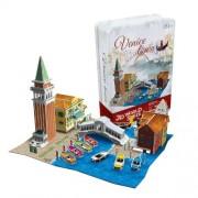 Cubicfun Cubic Fun 3d Puzzle Model 131pcs Venice Town Wharf Folk House