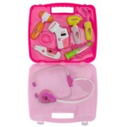 Aaryan Enterprise Doctor Set Pretend Play Toy with Light Sound Effects Pink