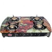 Quba B4 PEARL PLUS Arc Digital Glass Auto Ignition Gas Stove 4 Burner