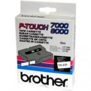 Banda continua laminata Brother TX232, 12mm, 15m
