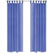 vidaXL Zavjese od Voala 2 kom 140x175 cm Kraljevski Plave