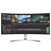 "Monitor gaming curbat LED IPS LG 34"", UltraWide QHD, HDMI, Display Port, FreeSync, Argintiu, 34UC99-W"