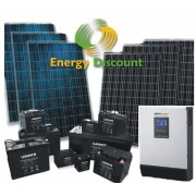 Kit Fotovoltaico 1,50 kw con accumulo 2.88 kwh