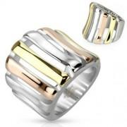 Arany, vörös arany és ezüst színű gyűrű-6